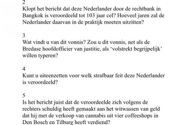 Politiek wakker: waslijst Kamervragen van D66 over Johan van Laarhoven (Vera Bergkamp, 13 November 2015)